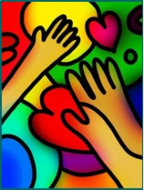mains coeurs cadre